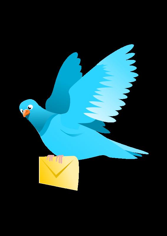 566x800 Bird Send Email Clipart