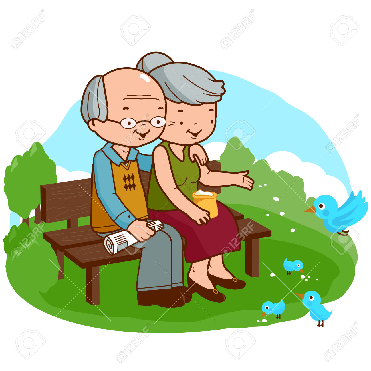 1300x1300 Couple Clipart Old Couple
