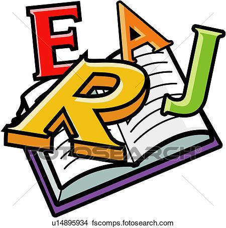 450x454 Clipart Of English, English, English Sentence, Book, Alphabet