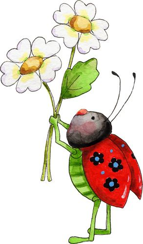 293x500 Lady Beetle Clipart September Flower