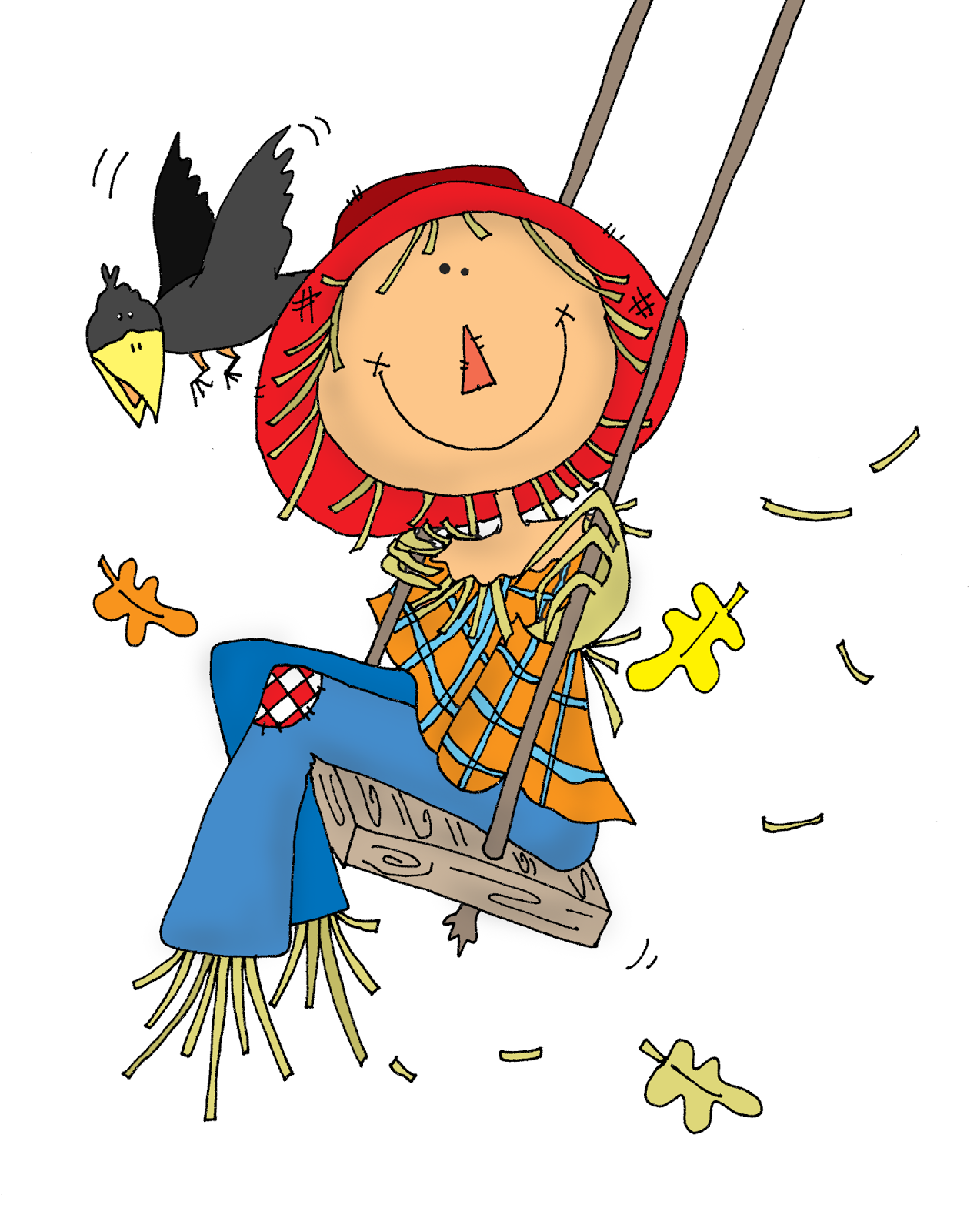 1270x1600 Scarecrow Clipart September
