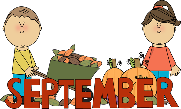 600x362 September Fall Kids Clip Art