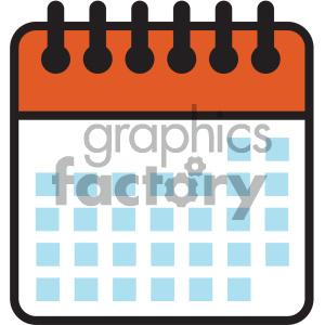 September Calendar Clipart