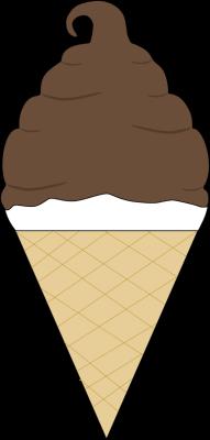 191x400 Chocolate Coated Soft Serve Ice Cream Cone Clip Art