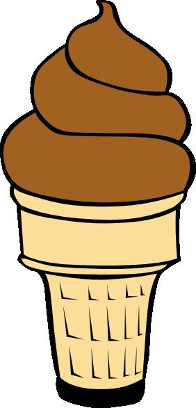 282x587 Chocolate Soft Serve Ice Cream Cone Clip Art Free Vector 4vector