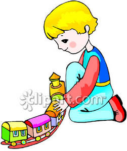 251x300 Child Playing With A Toy Train Set