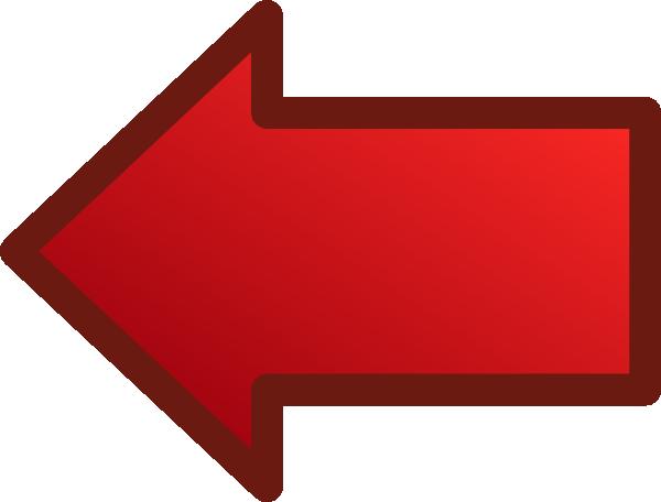 600x456 Red Arrows Set Left Clip Art