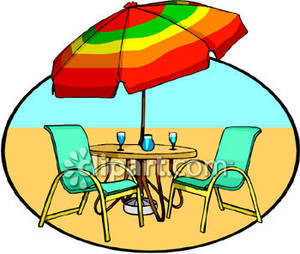 300x254 Set In The Sand Royalty Free Clipart Picture