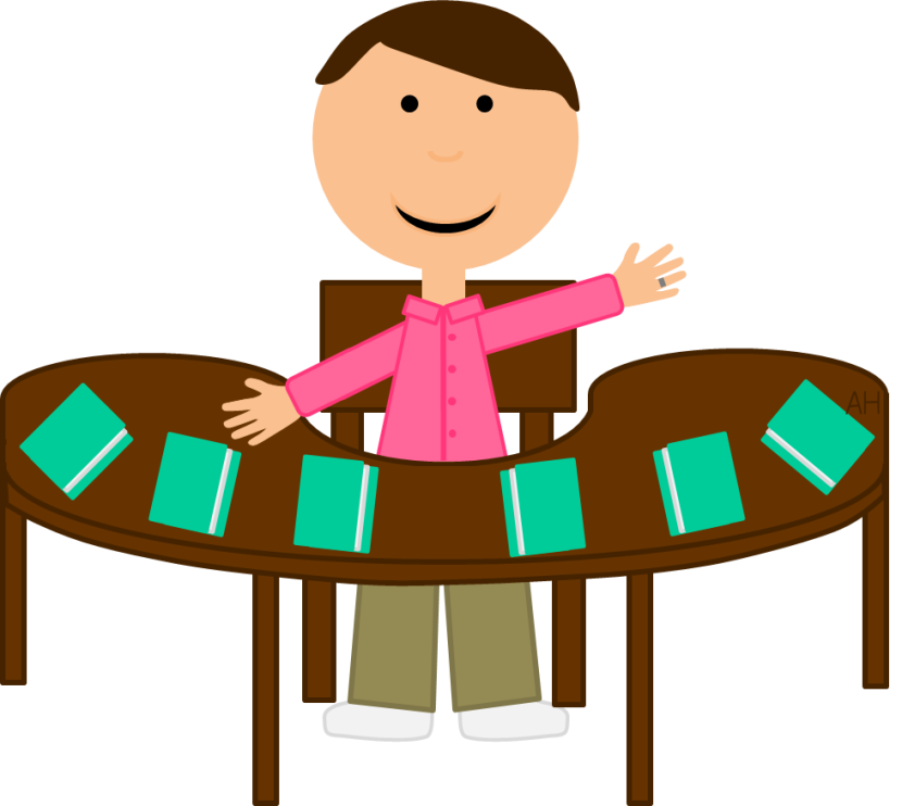 830x742 Student Table Clipart Collection