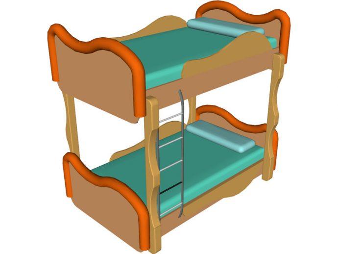 690x518 Bedroom Amusing Bunk Bed Clip Art A Set Beds Royalty Free 080920