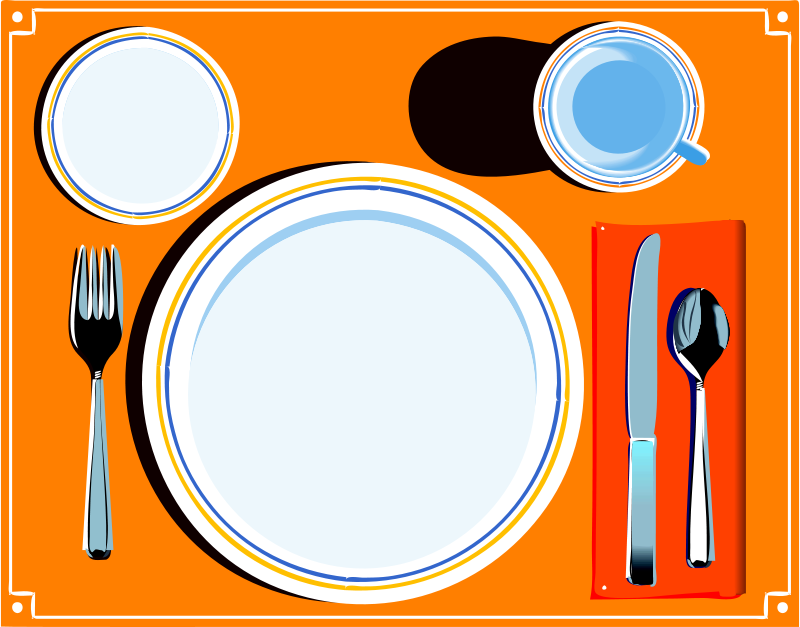 800x627 Meal Clipart Place Setting