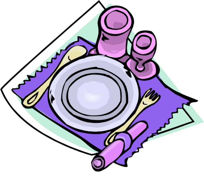 700x618 Table Setting Clipart Decoration Ideas Information About Home