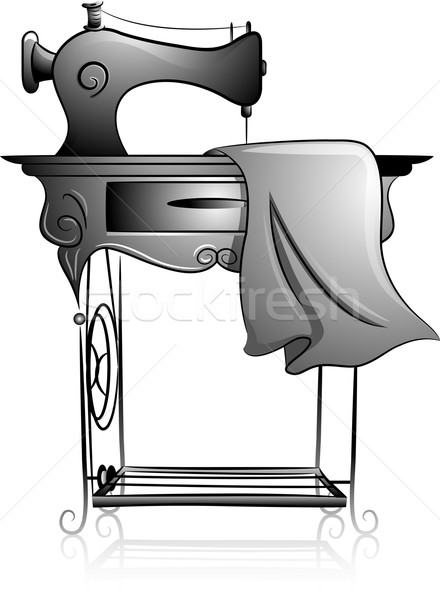 440x600 Sewing Machine Icon Vector Illustration Lenm ( 4421465) Stockfresh
