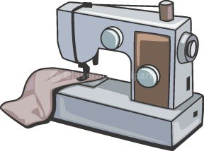 288x214 Sewing Machine Clipart