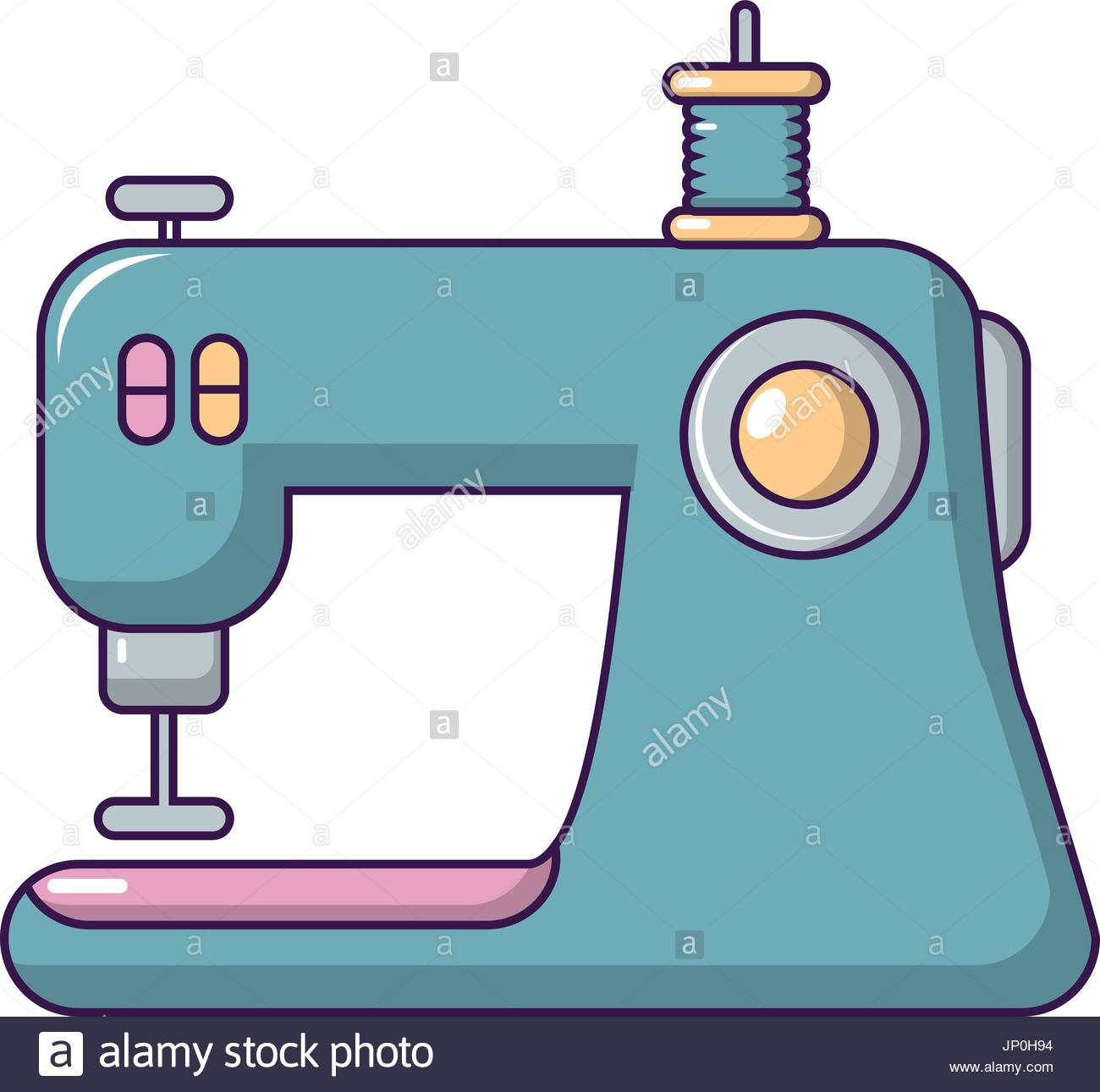 1300x1290 Sewing Machine Icon, Cartoon Style Stock Vector Art Amp Illustration