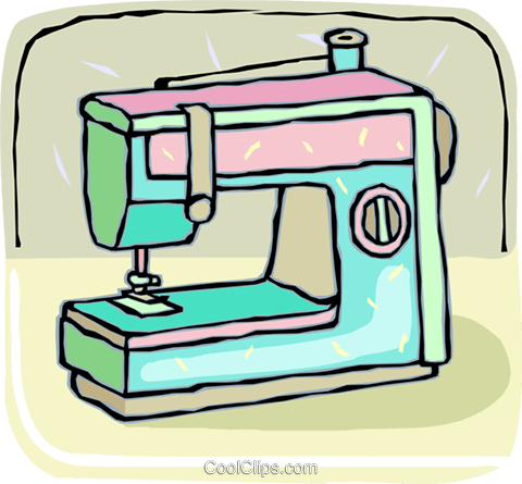 480x445 Electric Sewing Machine Royalty Free Vector Clip Art Illustration