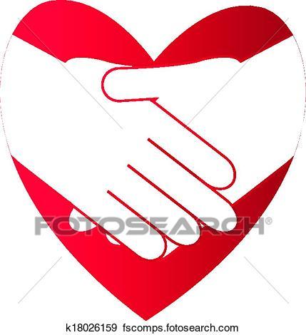 429x470 Clip Art Of Shake Hands K18026159