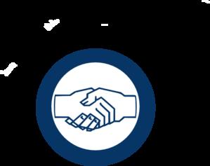 299x237 Handshake Blue Hand Shake Clip Art