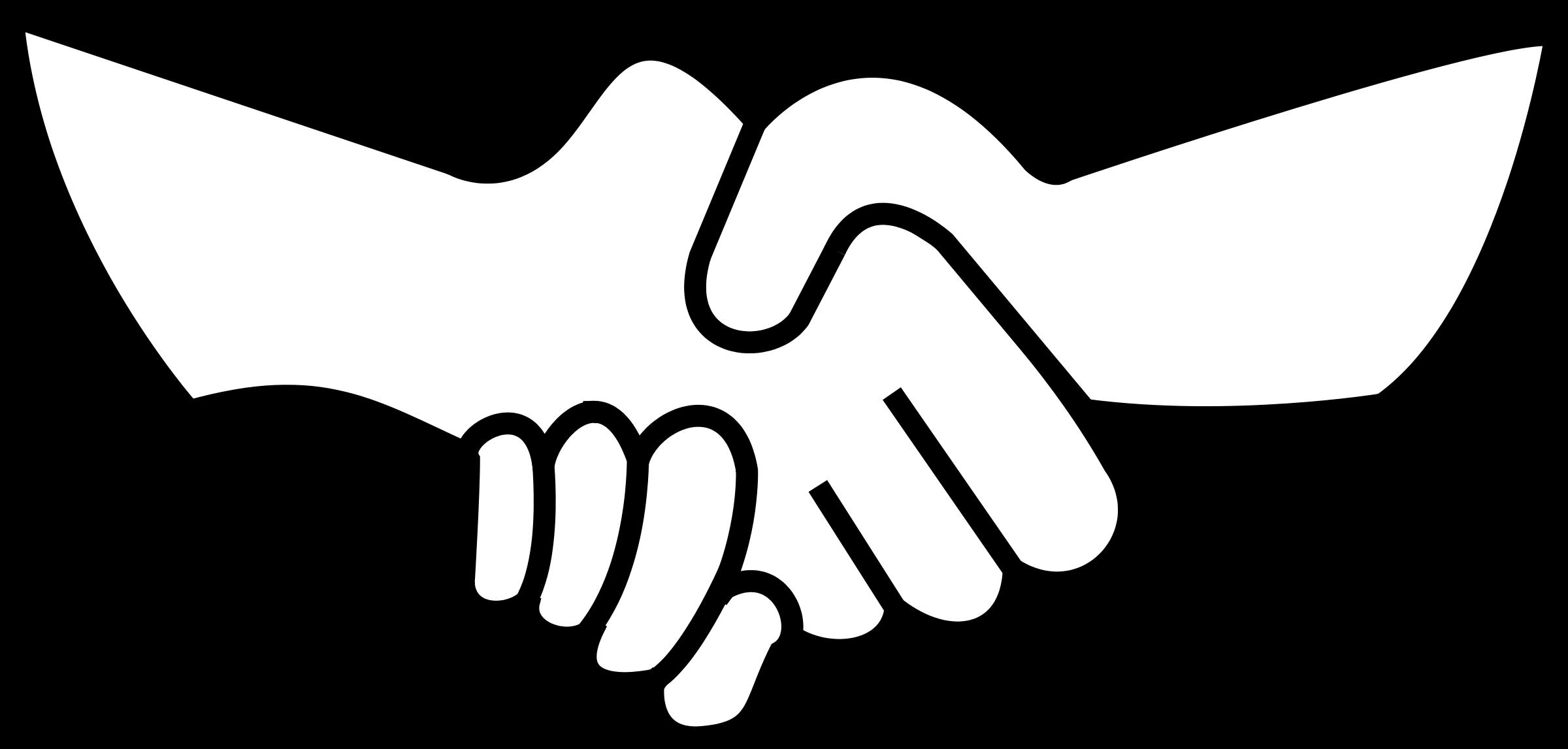 2400x1147 Handshake Shaking Hands Hand Shake Clip Art Clipart Image 5