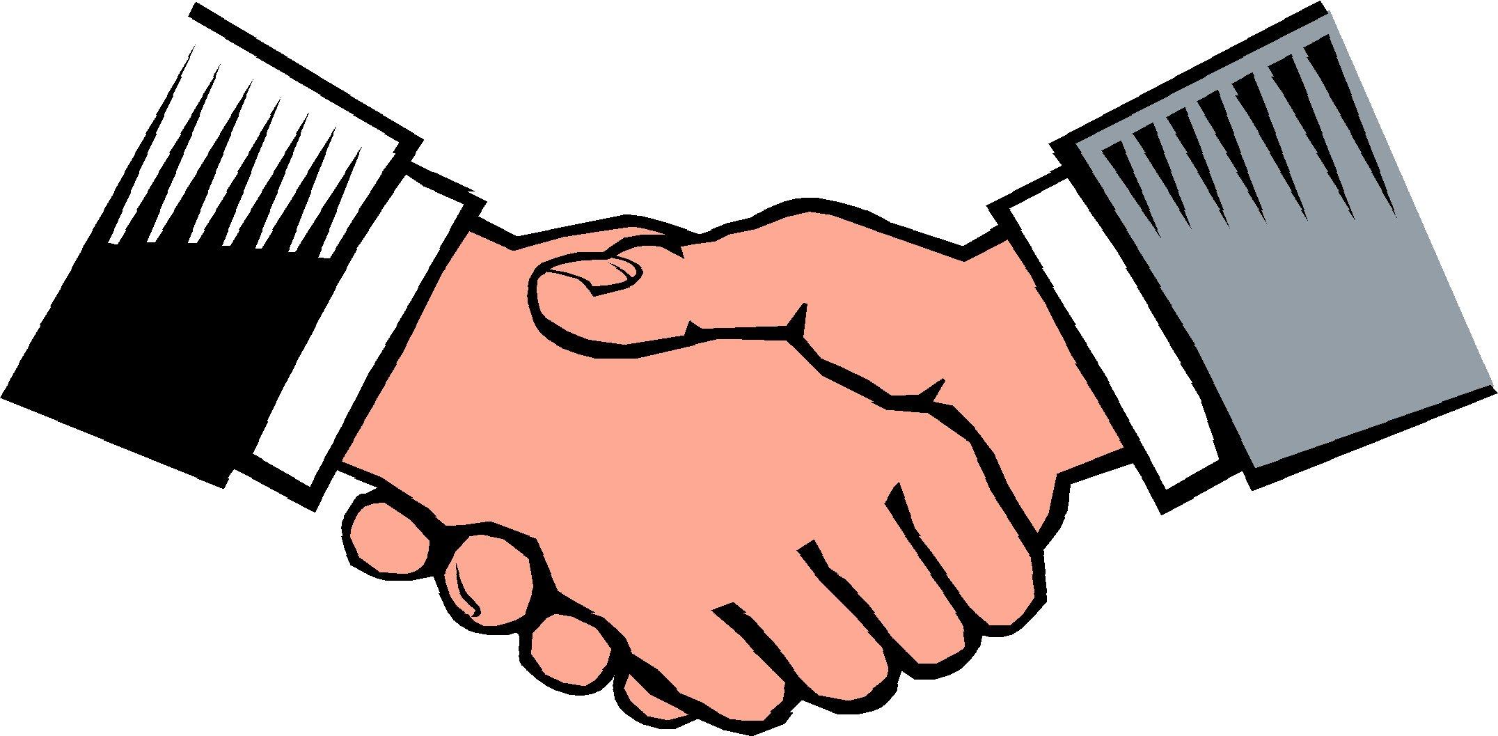 2152x1057 Shake Hand Clipart