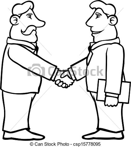 421x470 Shaking Hands Black And White Clipart