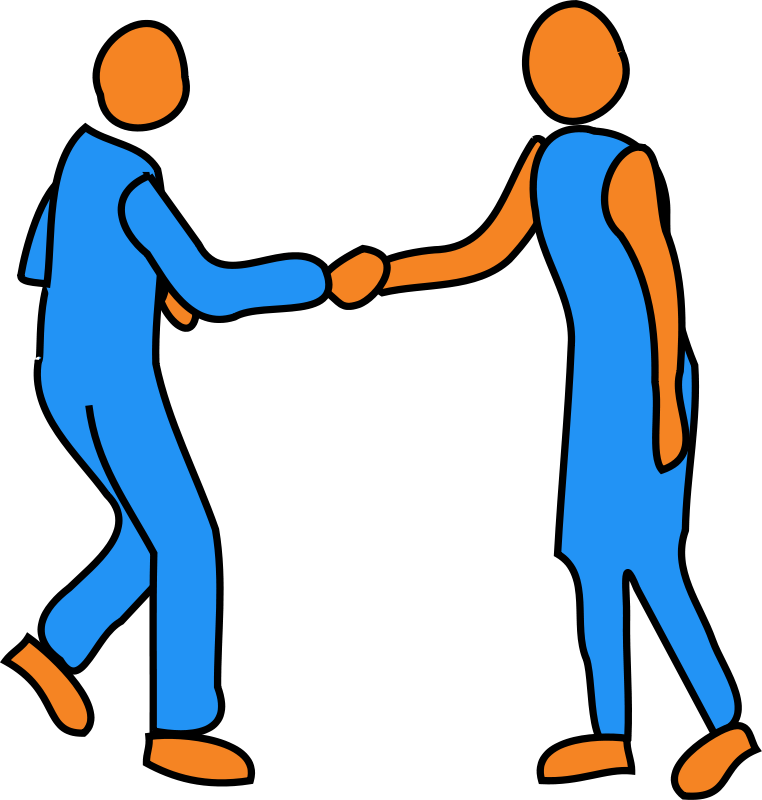 762x800 Shaking Hands Free Clipart Image