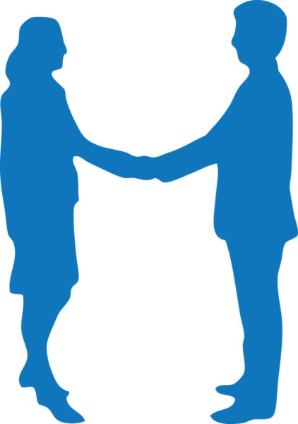 422x600 Two People Shaking Hands Clipart Image