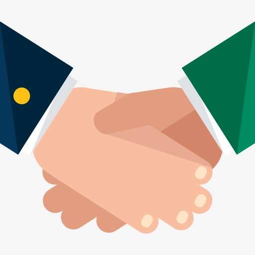 512x512 Shake Hands, Cartoon, Cooperation Png Image For Free Download