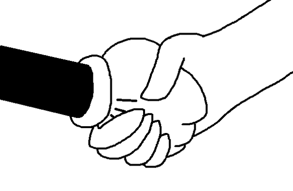 Line Art Hand : Shaking hands clipart free download best