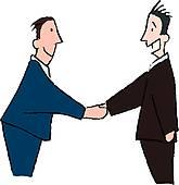 165x170 Businessmen Shaking Hands Clip Art Cliparts