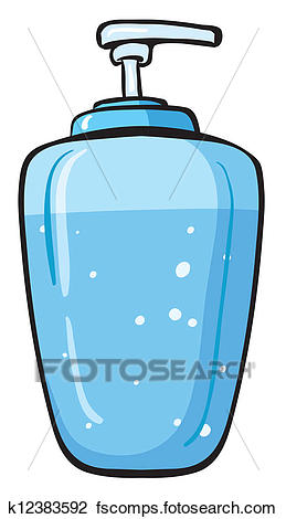 259x470 Clipart Of A Liquid Soap Container K12383592