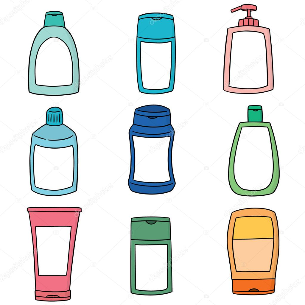 1024x1024 Vector Set Of Shampoo And Liquid Soap Bottle Stock Vector