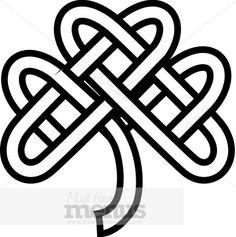 236x237 Shamrock Celtic Shamrock Black White Line Flower Art Coloring