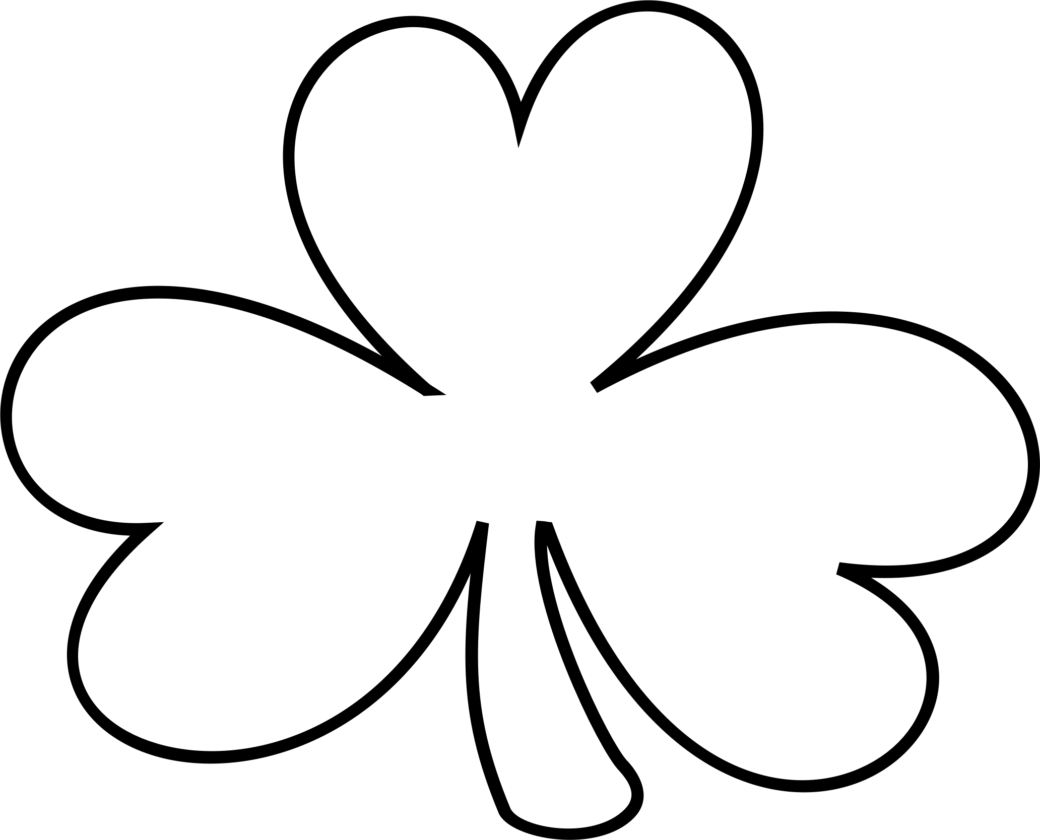 2064x1668 White Clipart Shamrock