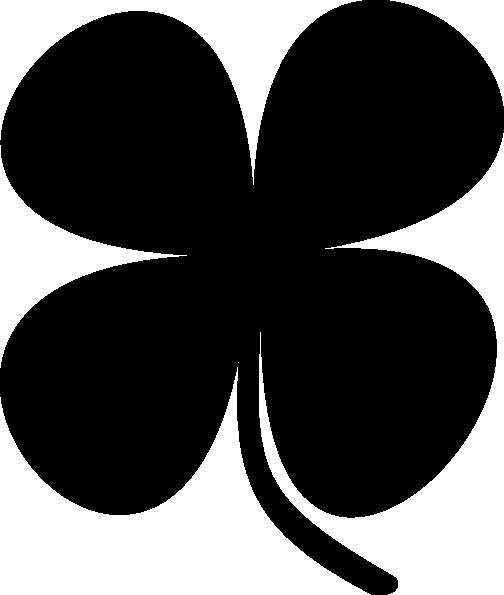 504x595 Shamrock Clip Art Black And White Shamrock Clip Art