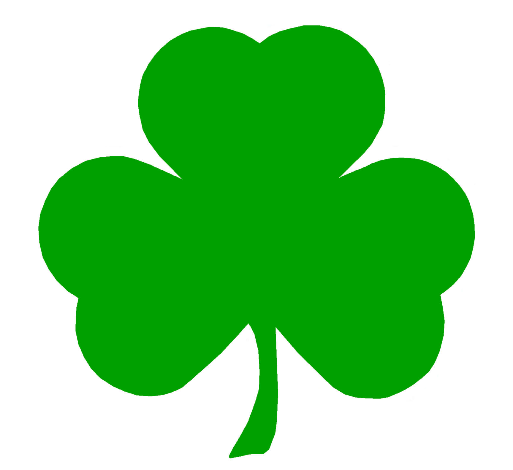 1728x1584 Shamrocks Clipart
