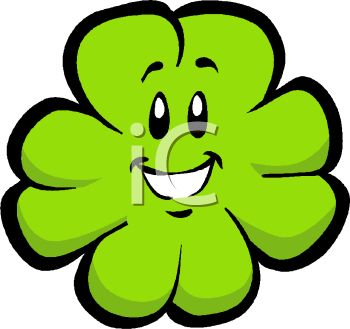 350x329 Smiling Cartoon Shamrock