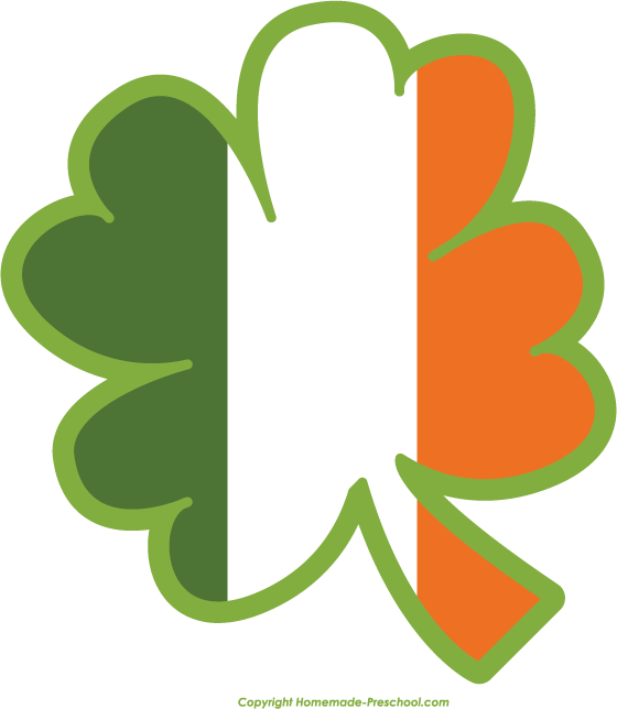 560x644 Clover clipart irish