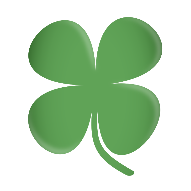 800x800 Free Four Leaf Clover Clip Art