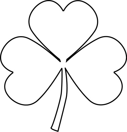 481x500 Black And White Shamrock Clip Art Black And White Shamrock Image