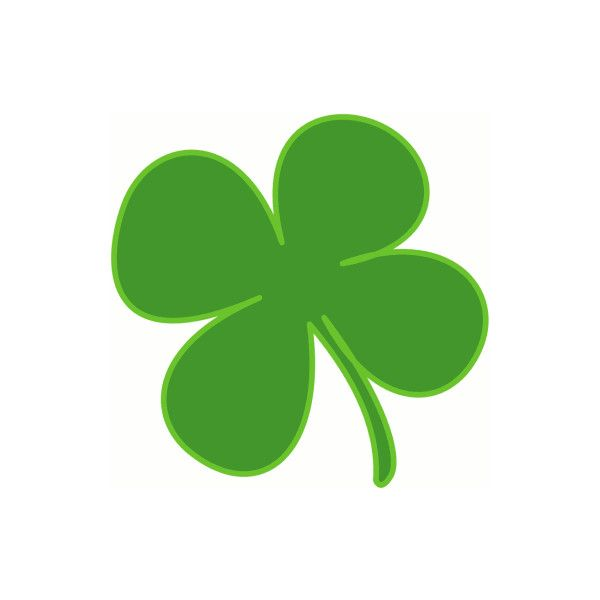 March shamrock. Clipart no background free