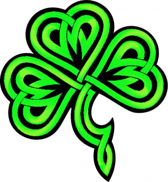 579x626 Shamrock Clipart Vector Free Download