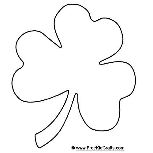 500x500 Shamrock Template For St. Patrick's Day Crafts. St. Patrick'S