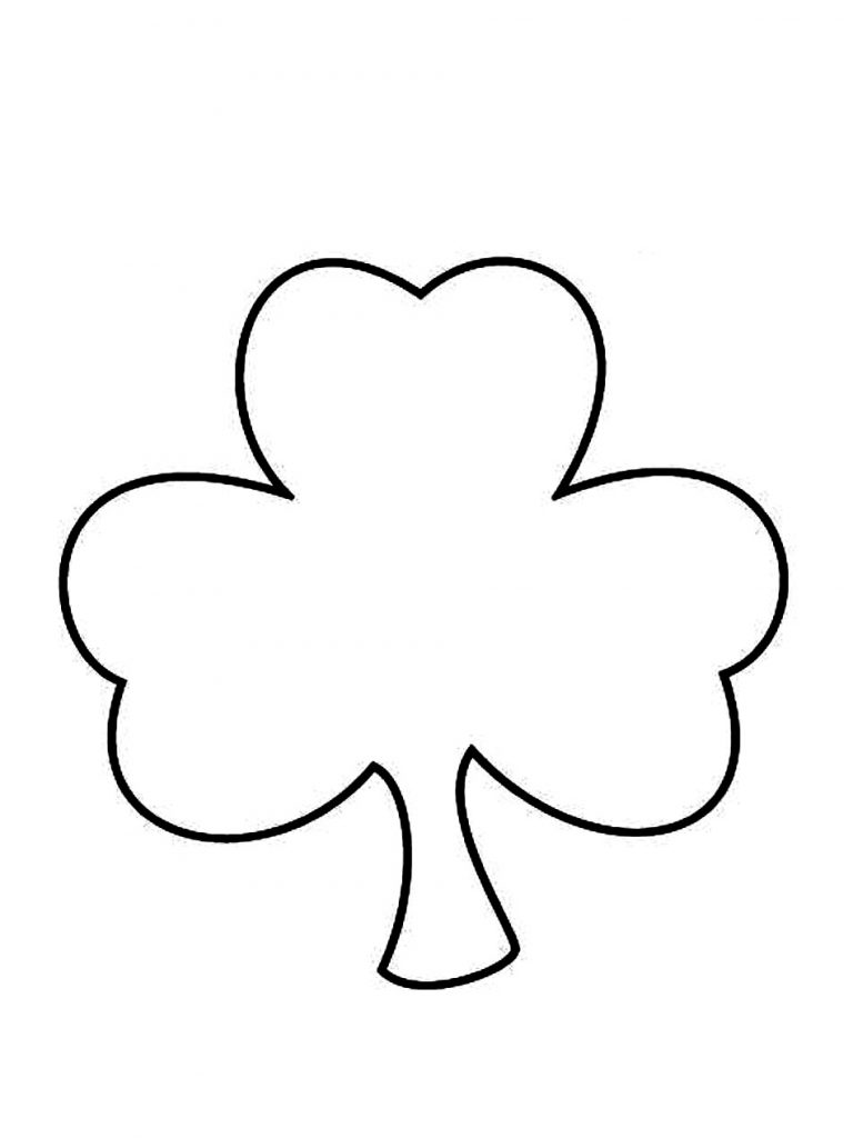 768x1024 Best Shamrock Coloring Page 53 On Line Drawings With Shamrock