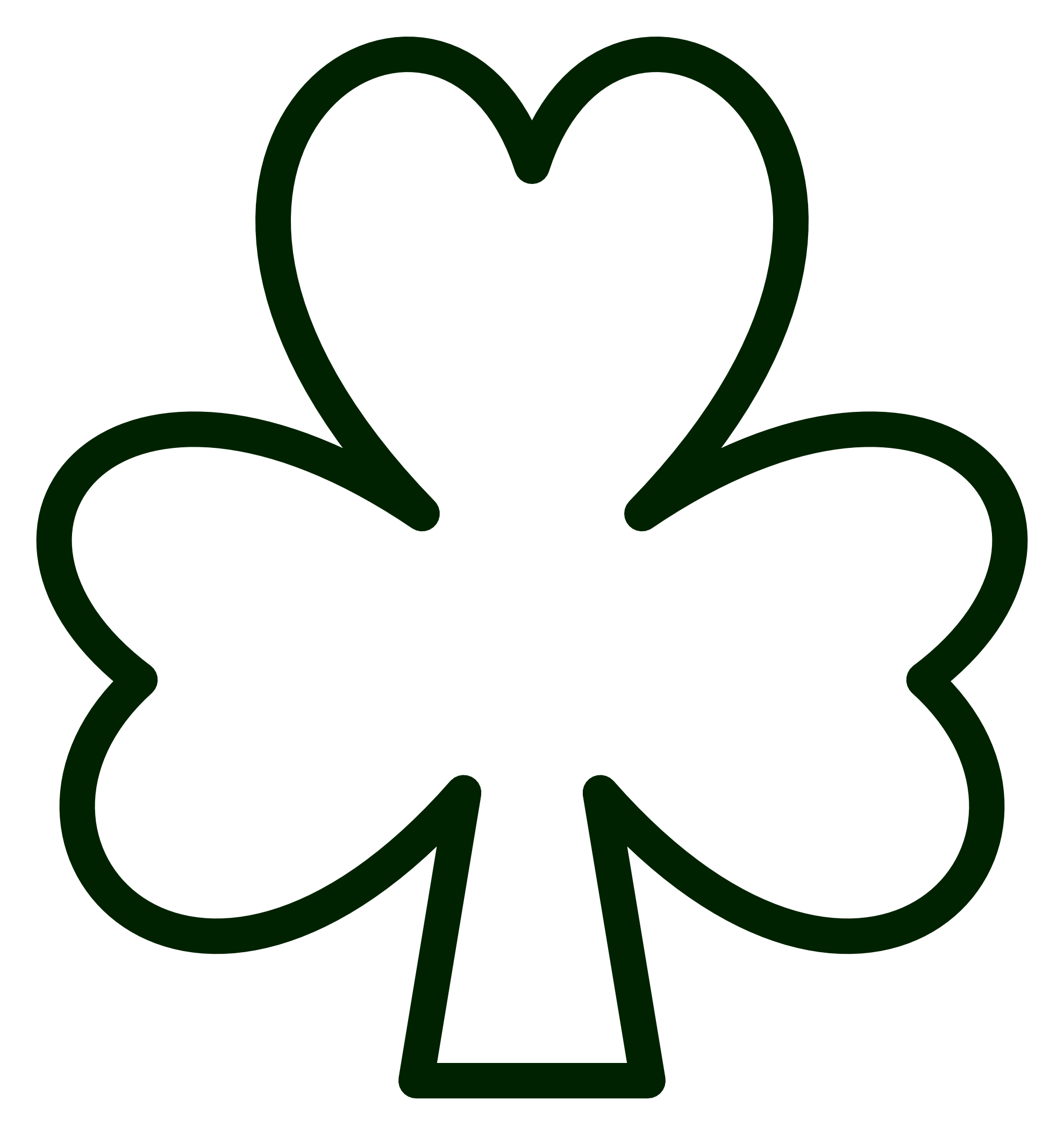 picture regarding Shamrock Outline Printable referred to as Shamrock Define Cost-free obtain easiest Shamrock Define upon