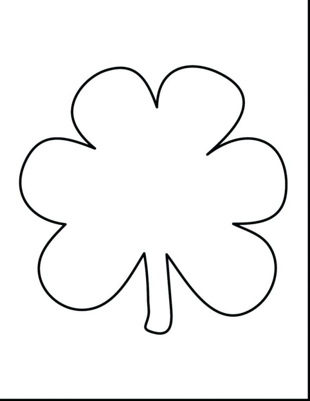 618x800 Articles With Shamrock Coloring Pages Free Tag Charming Shamrock