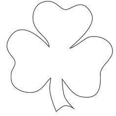 picture regarding Printable Shamrocks Templates called Assortment of Shamrock clipart Free of charge obtain suitable Shamrock