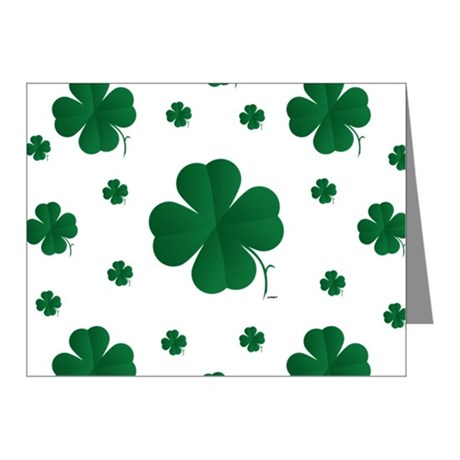 460x460 Shamrock Thank You Cards Shamrock Note Cards