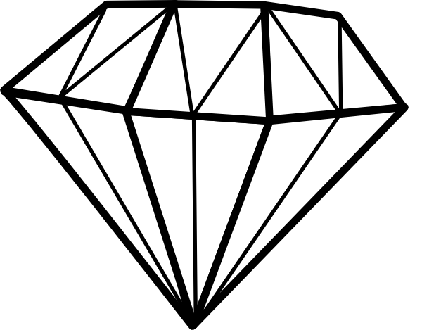 600x469 Black Diamond Shape Clip Art