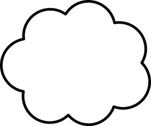 298x249 Cloud Clip Art
